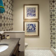 Bathroom With Printed Tile